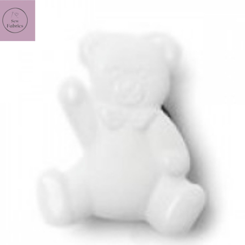 16mm White Teddy Shank Button