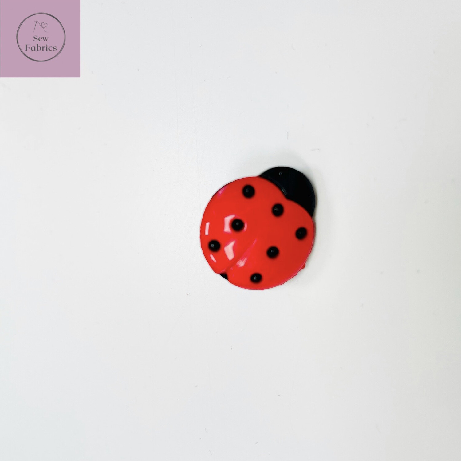 18mm Large Red Ladybird Shank Button