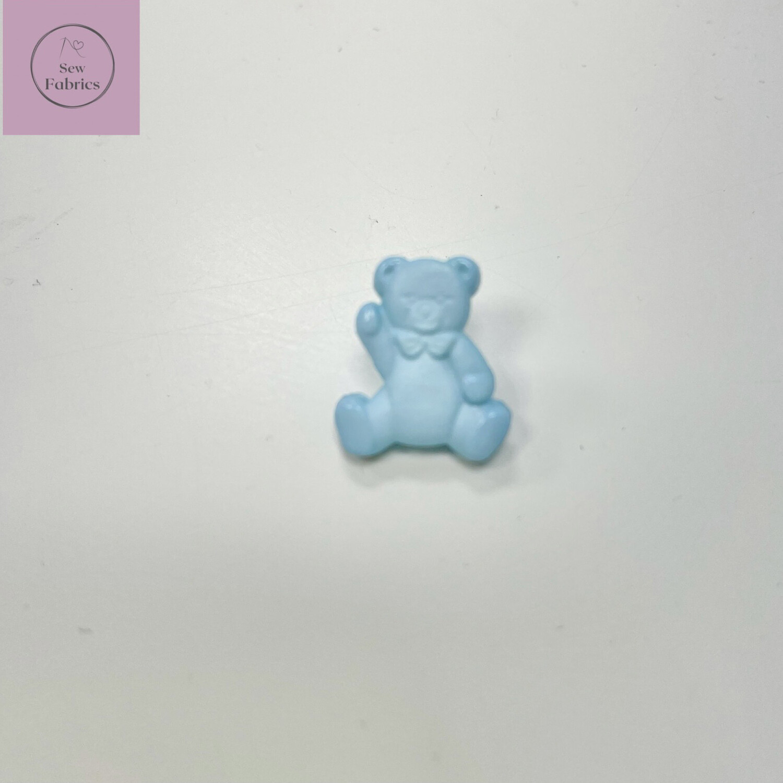 16mm Blue Teddy Shank Button