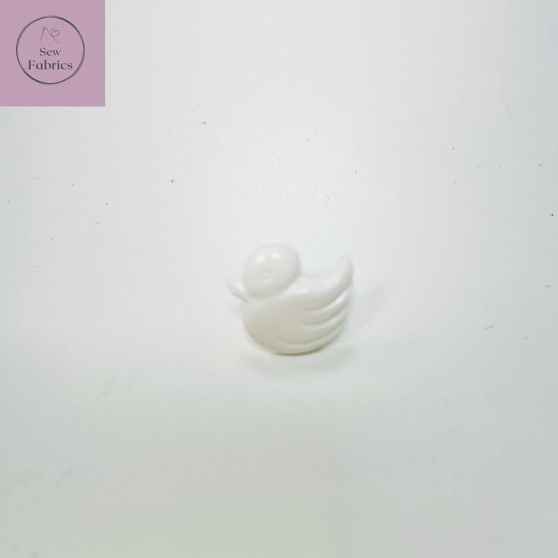 14mm White Duck Shank Button