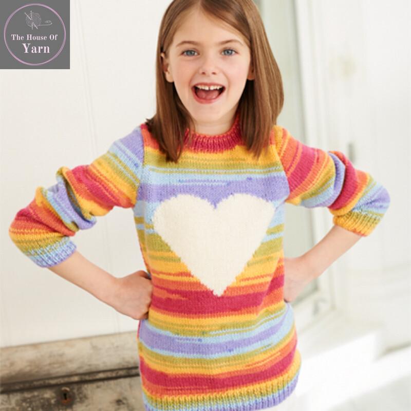 Wondersoft Merry Go Round DK Pattern 9397 Sweater and Hoody
