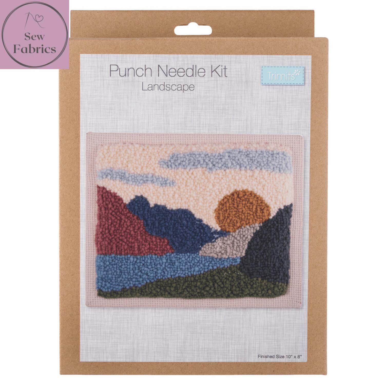 Trimits Landscape Punch Needle Kit Craft Set