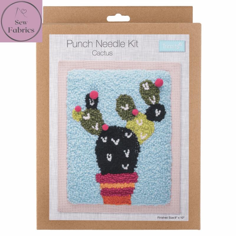 Trimits Cactus Punch Needle Kit Craft Set