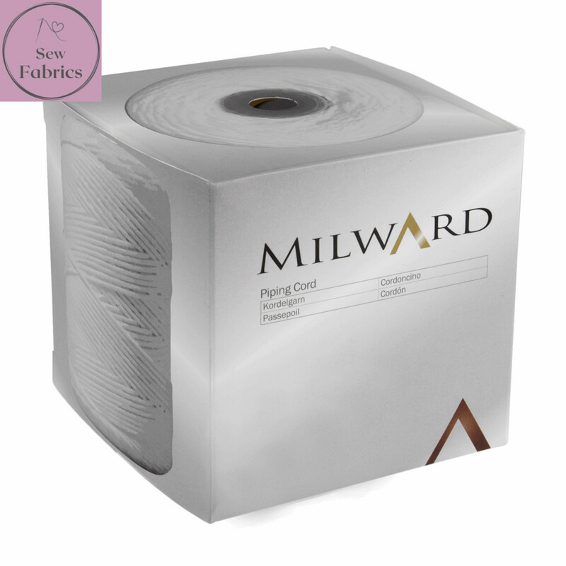 4mm Milward Bleached Cotton Piping Cord, 100% Cotton String for Craft, Cushions