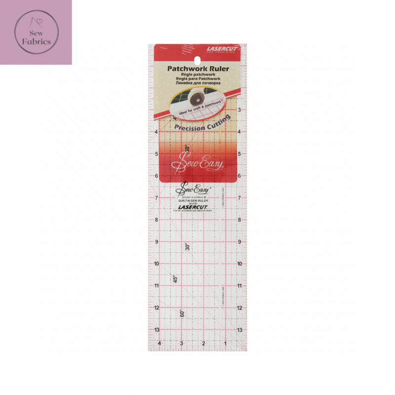 Sew Easy Patchwork and Craft Ruler 12 x 6.5 inch