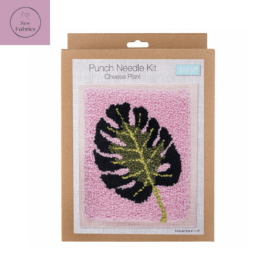 Trimits Cheese Plant Tropical Punch Needle Kit Craft Set