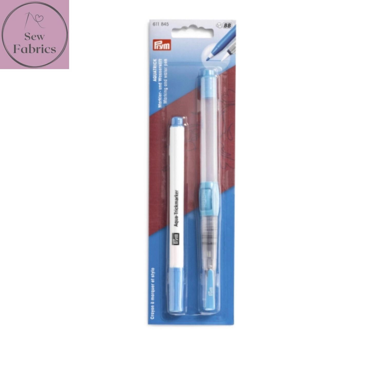 Prym Aqua Trick Marker & Water Pen, Twin Pack Water Erasable