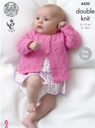 King Cole DK Cardigan & Blanket Pattern 4430