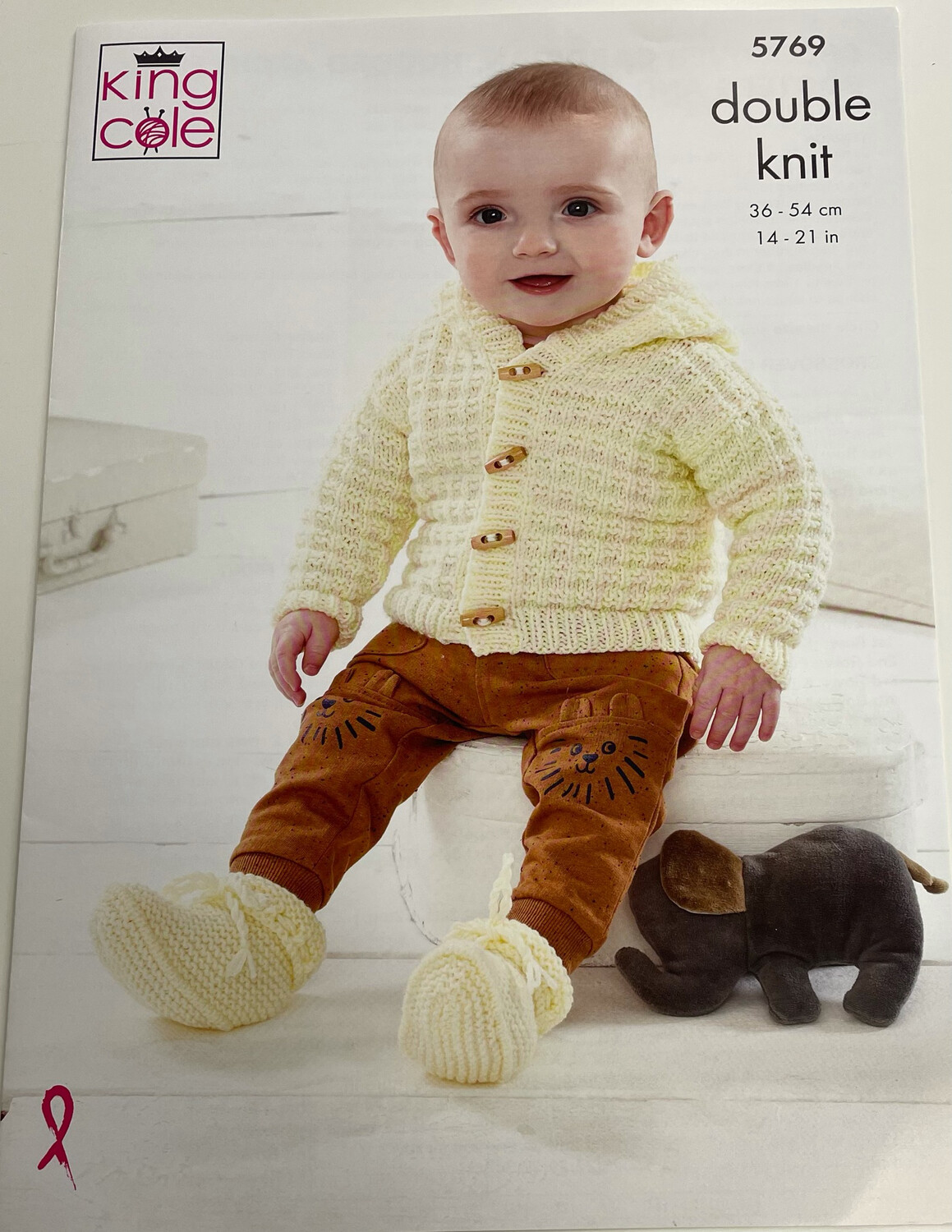 King Cole Cross Over Cardigan, Hooded Jacket, Bootees and Blanket Children's Pattern 5769