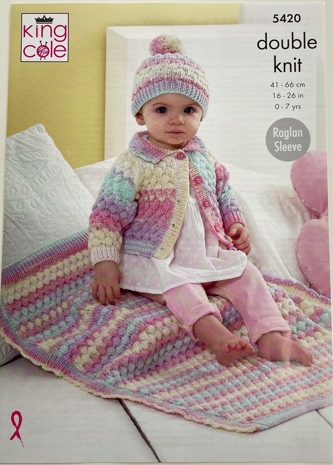 King Cole Cardigan, Hat and Blanket Pattern 5420