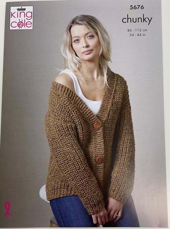 King Cole Sweater & Cardigan - Chunky Women's Pattern 5676