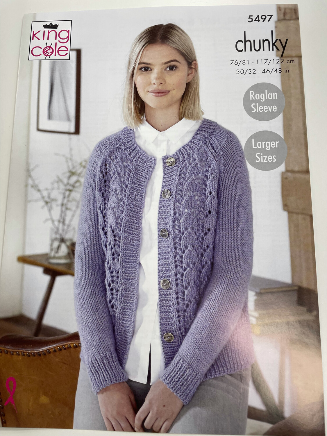 King Cole Cardigan, Hat and Scarf Chunky - Women's Pattern 5497