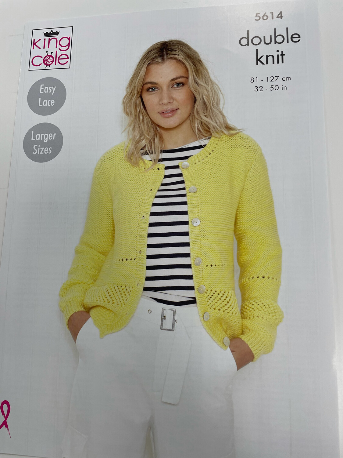 King Cole Sweater and Cardigan Double Knit - Women's Pattern 5614