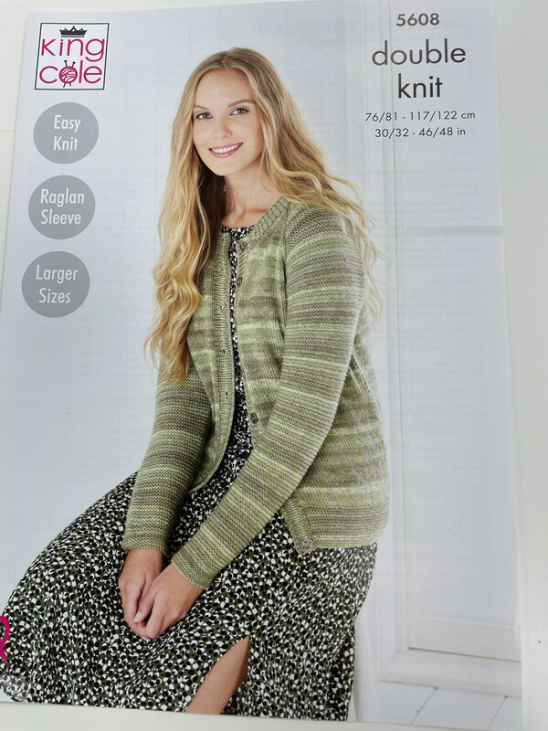 King Cole Sweater and Cardigan Double Knit - Women's Pattern 5608