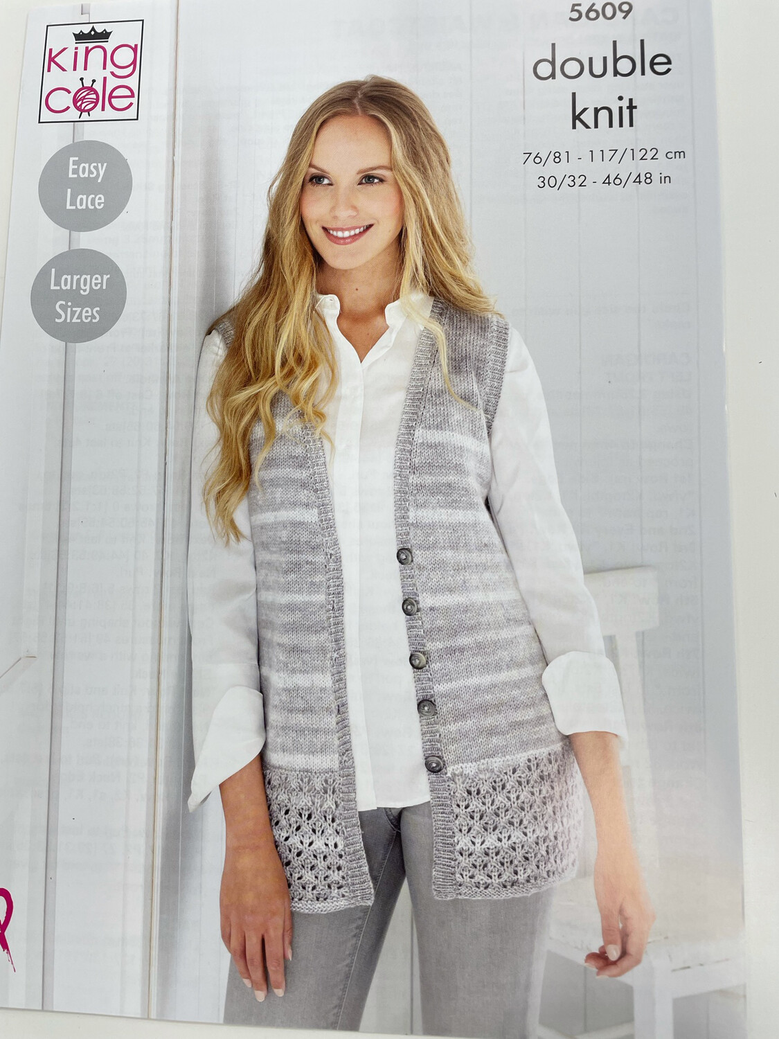 King Cole Waistcoat and Cardigan Double Knit - Women's Pattern 5609