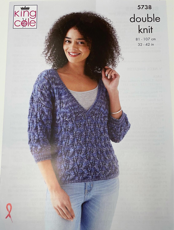 King Cole Sweaters Double Knit - Women's Pattern 5738