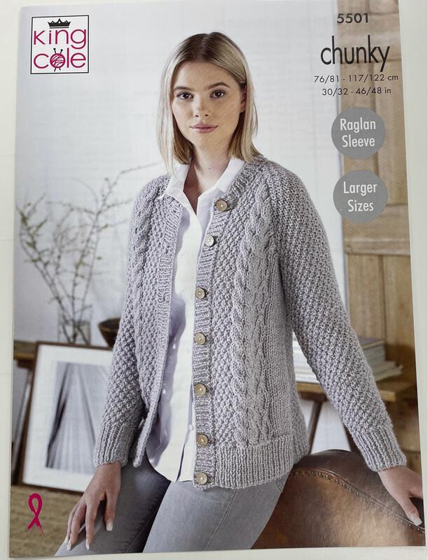 King Cole Sweater & Cardigan - Chunky Women's Pattern 5501