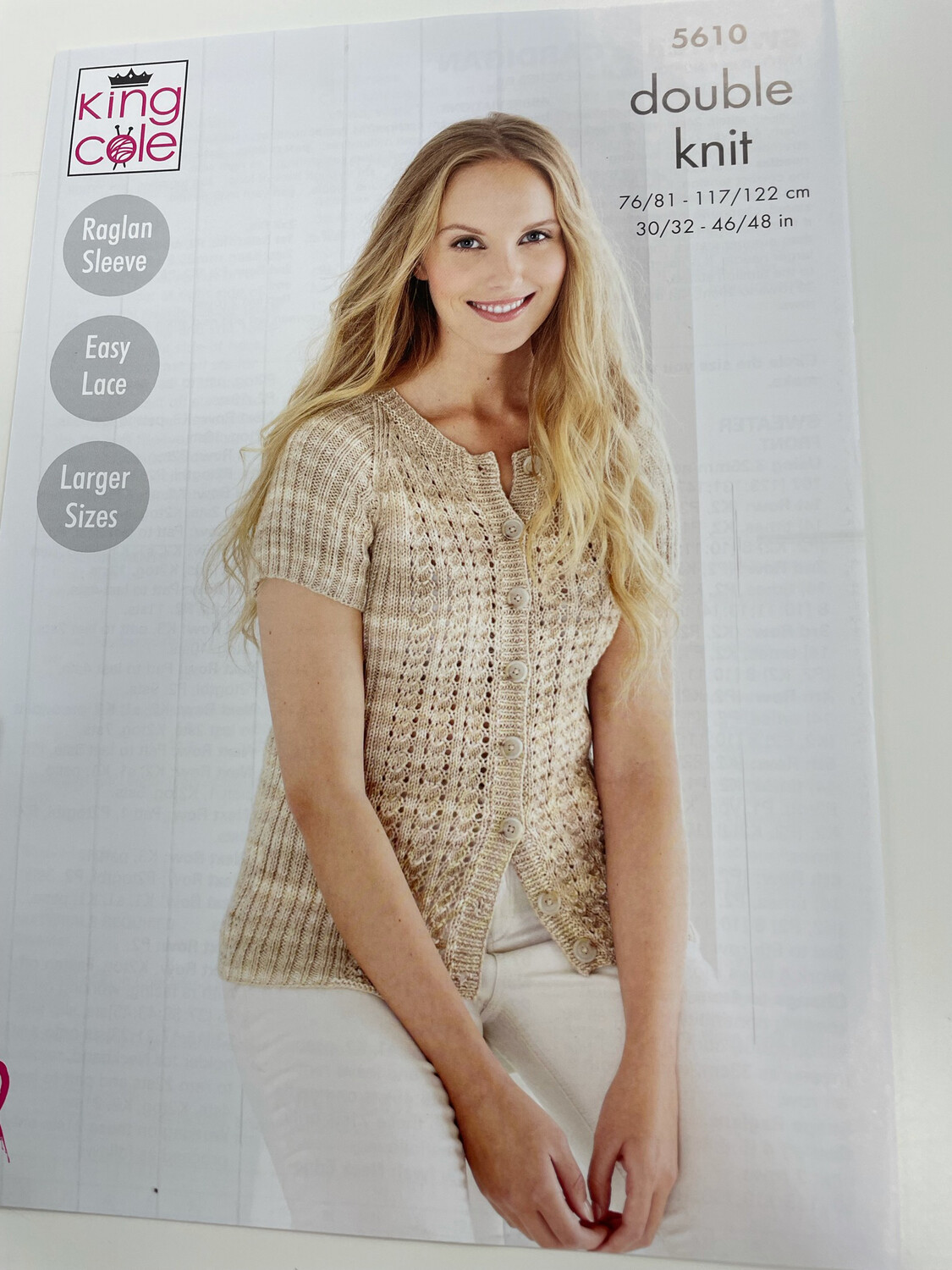 King Cole Sweater and Cardigan Double Knit - Women's Pattern 5610