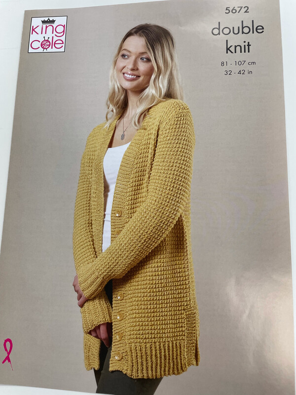 King Cole Cardigan and Sweater Double Knit - Women's Pattern 5672
