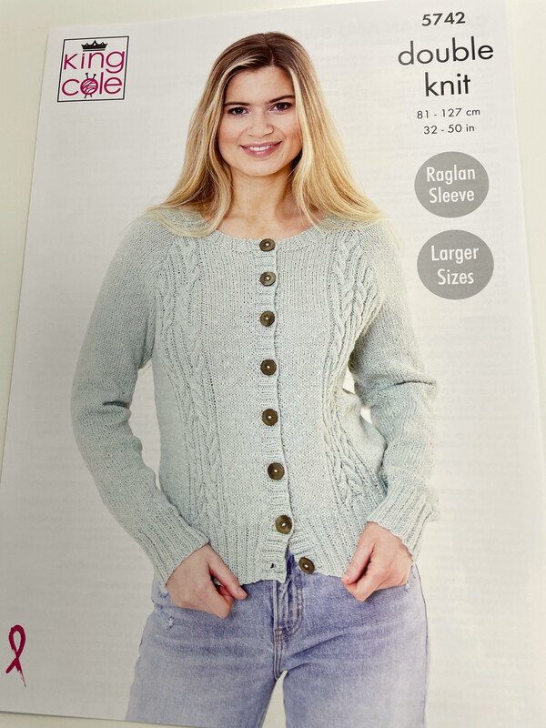 King Cole Cardigan and Sweater Double Knit - Women's Pattern 5742