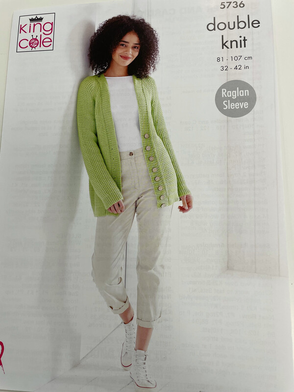 King Cole Cardigan and Sweater Double Knit - Women's Pattern 5736