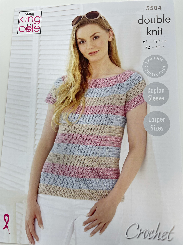 King Cole Cardigan & Top Double Knit - Women's Pattern 5504