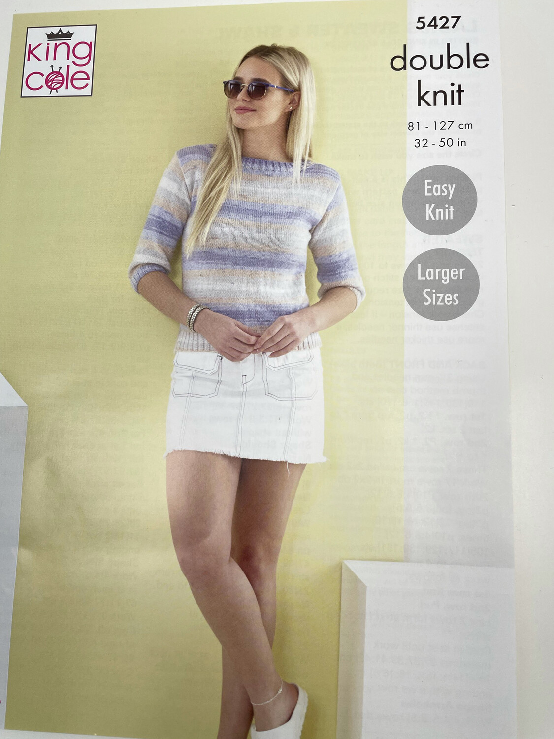 King Cole Sweater and Shawl Double Knit - Women's Pattern 5427