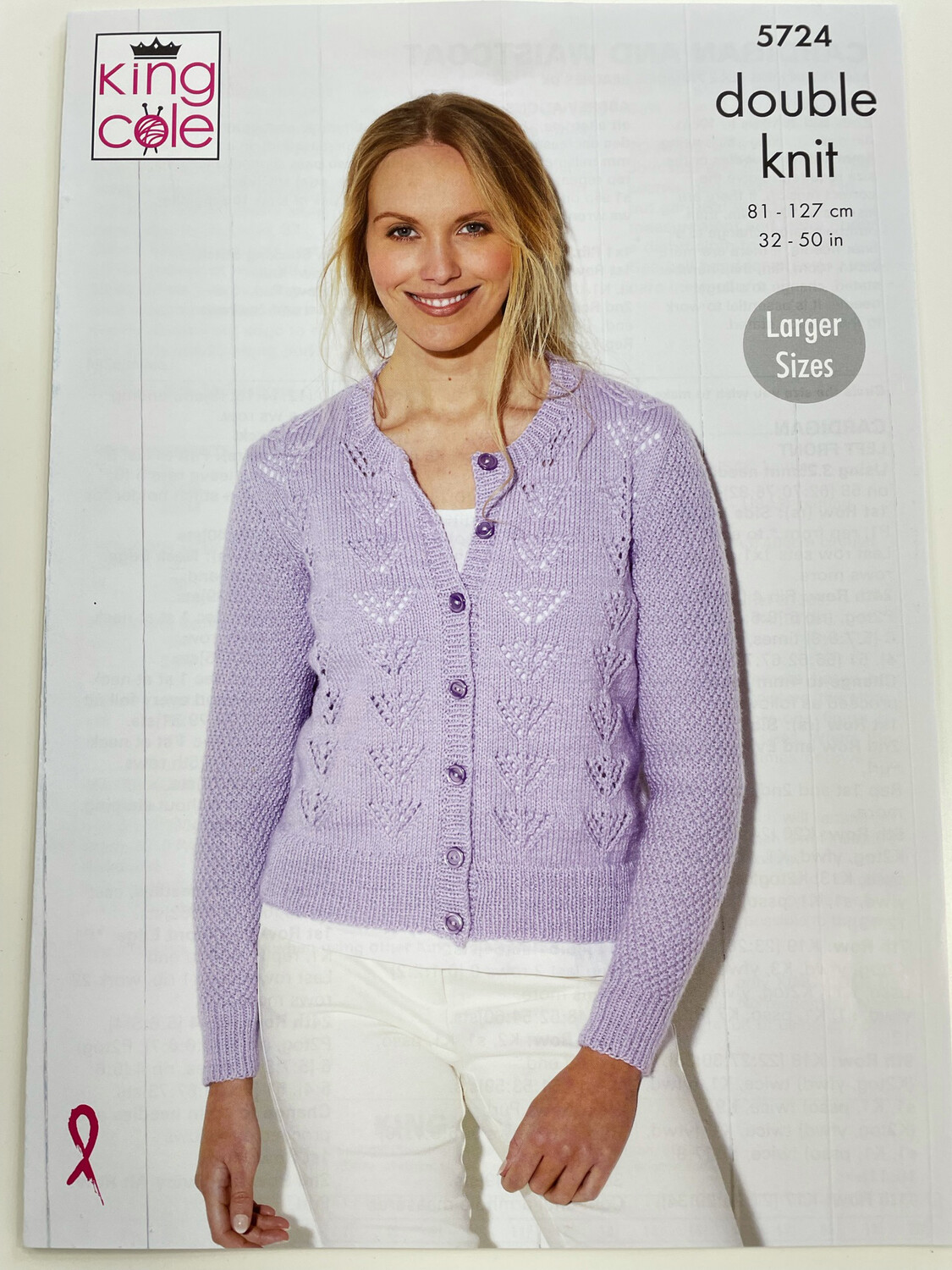 King Cole Cardigan and Waistcoat Double Knit - Women's Pattern 5724