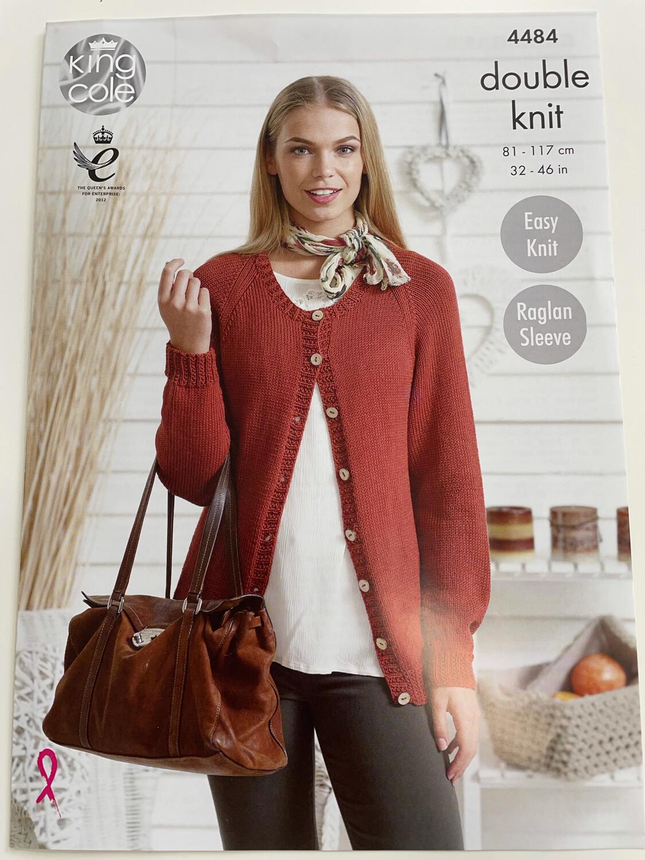 King Cole Cardigans Double Knit - Women's Pattern 4484