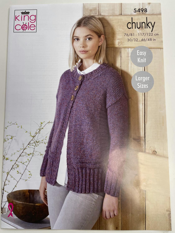 King Cole  Sweater & Cardigan Chunky - Women's Pattern 5498