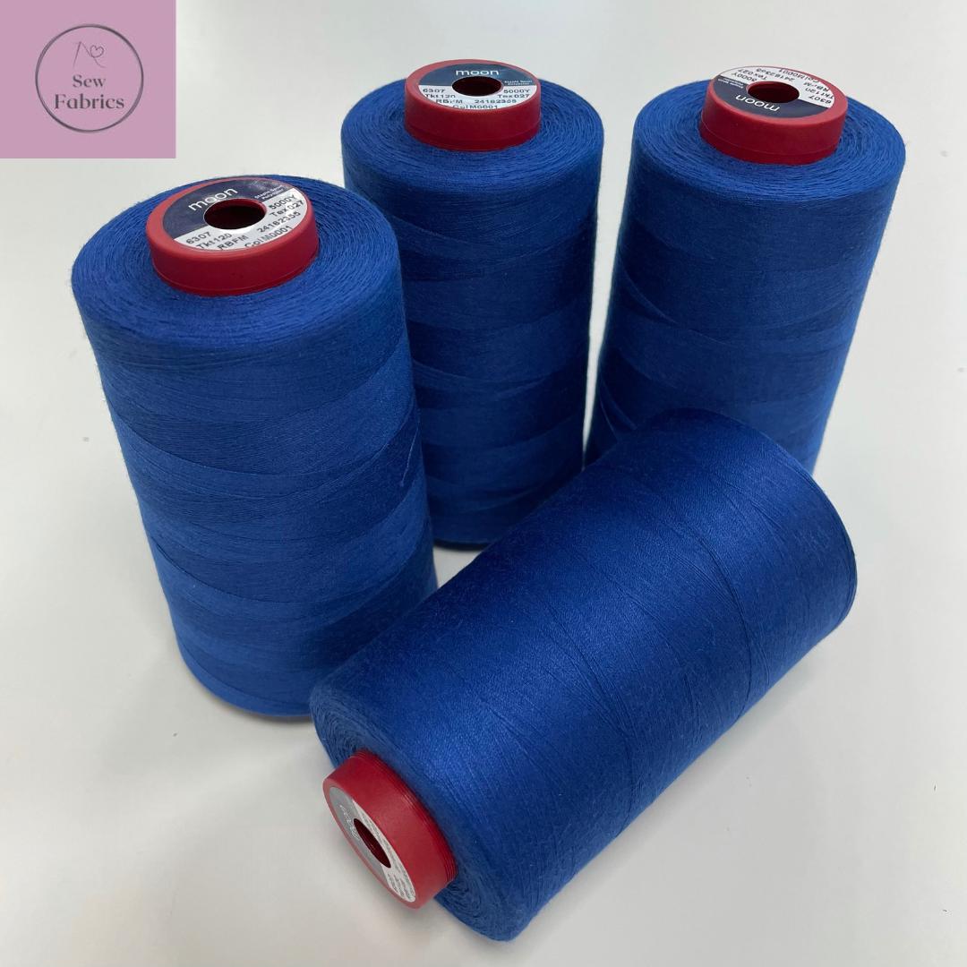 5000y Moon Polyester Thread Cone, Overlocker - Royal Blue M001