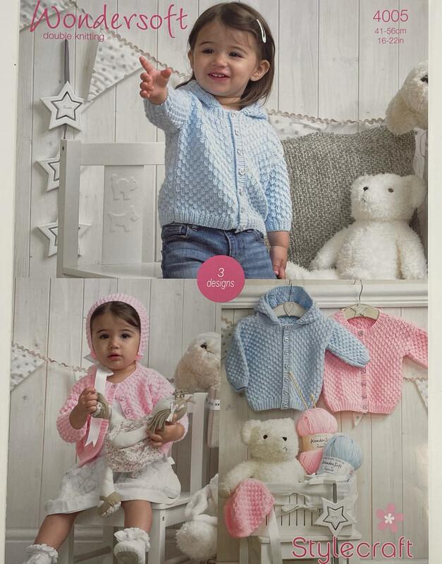 Stylecraft Bonnets and Jackets Baby Pattern 4005