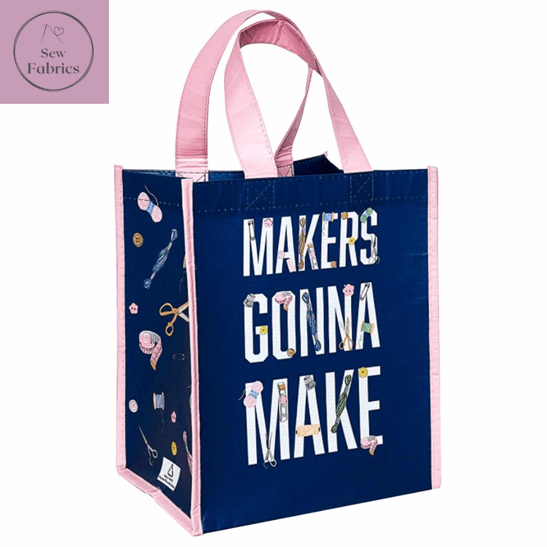 Reusable Tote Bag: 18 x 23.5 x 29cm: Makers Gonna Make: Navy