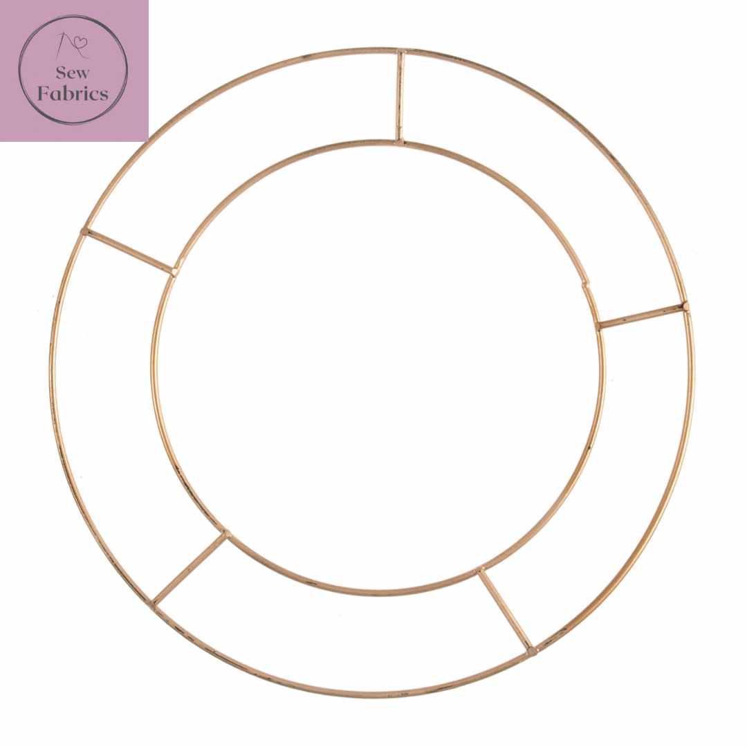 """30.5cm/12"""" Metal Wreath Wire Base Round/Circle, Christmas Decoration Crafting"""