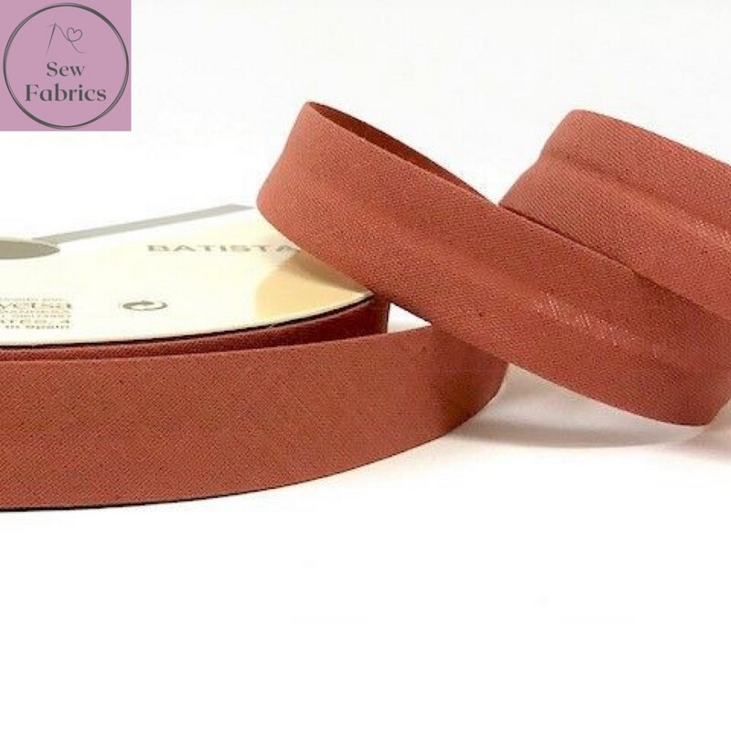 18mm Copper Plain Bias Polycotton Bias Binding