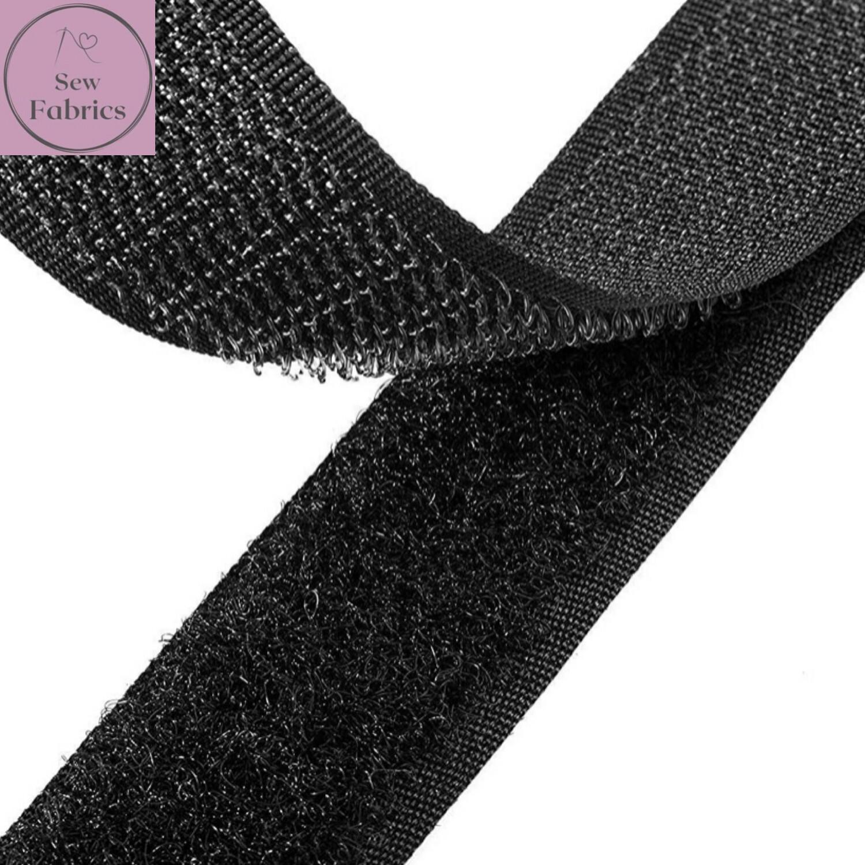20mm Black Velcro, Hook and Loop x 1 metre