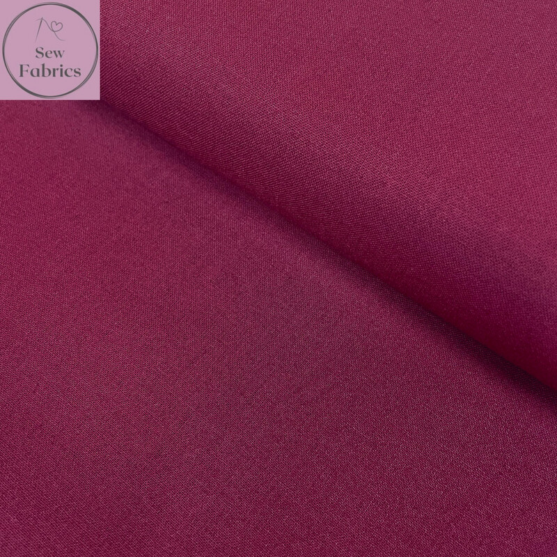 Maroon Red 100% Craft Cotton Solid Fabric Plain Material
