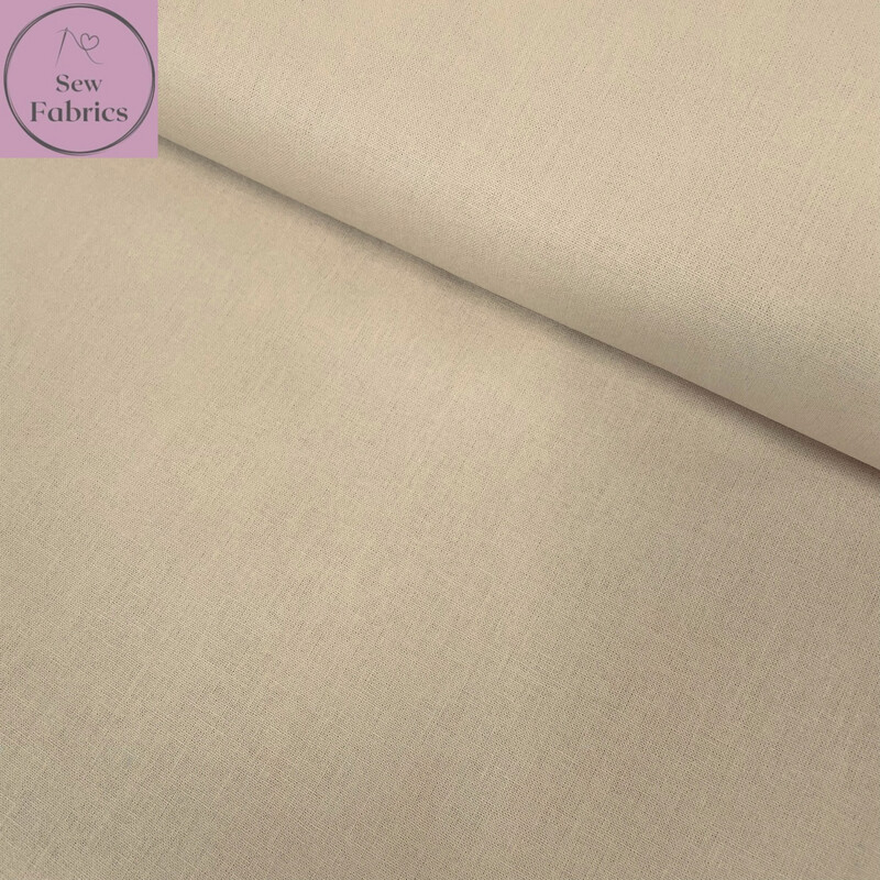 Parchment 100% Craft Cotton Solid Fabric Plain Material