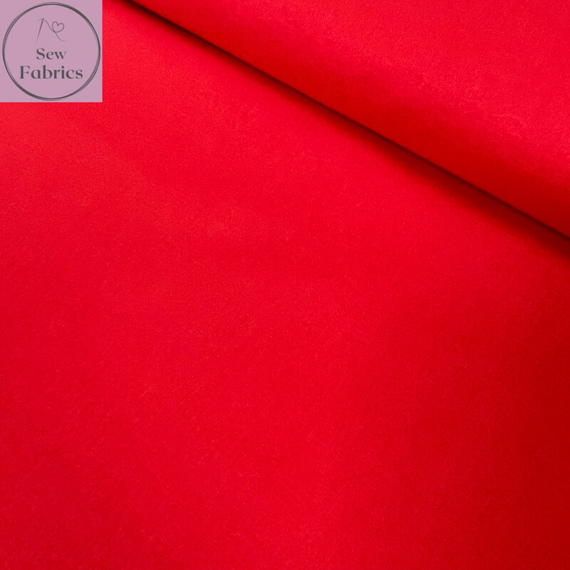 Tomato Red 100% Craft Cotton Solid Fabric Plain Material