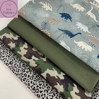 4 x Fat Quarter Bundle, Novelty 100% Cotton Fabric.
