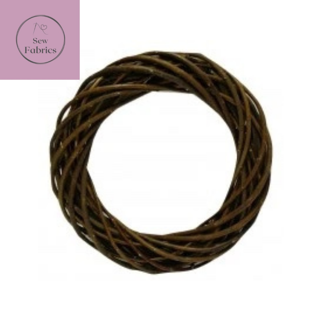 20cm Brown Willow Wreath Base, Christmas Decoration Crafting