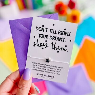 Don't Tell People Your Dreams Show Them Wish Bracelet Gift