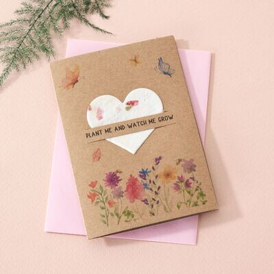 Plantable Seed Card Wildflowers