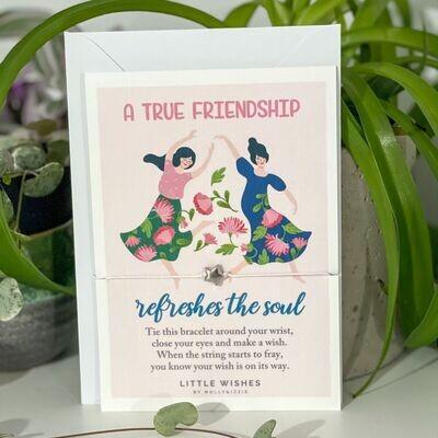 Friendship Refreshes the Soul Wish Bracelet