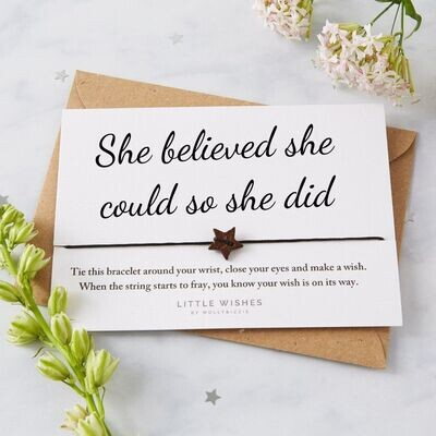 She Believed She Could So She Did, Eco Wish Card