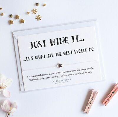 Wing It Wish Bracelet Card Gift