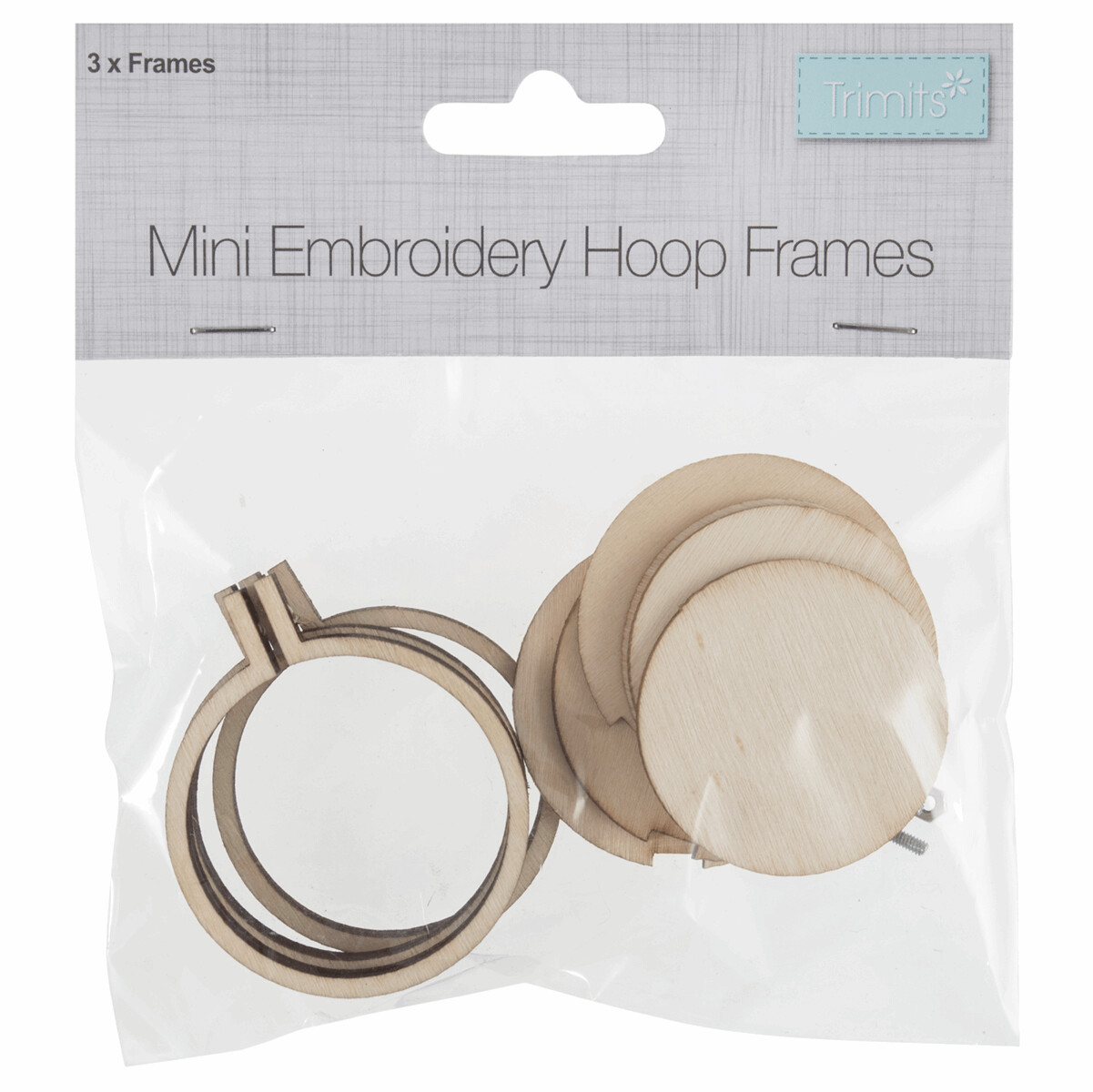 Frame: Mini Embroidery Hoop: Round: 40 x 40mm: Pack of 3 Hoops