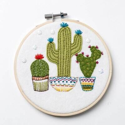 Felt Cactus Applique Hoop Kit by Corinne Lapierre