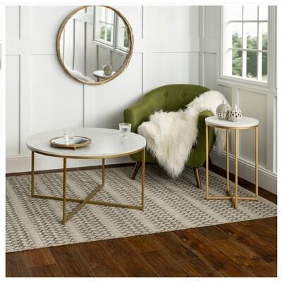 2-piece round coffee table set