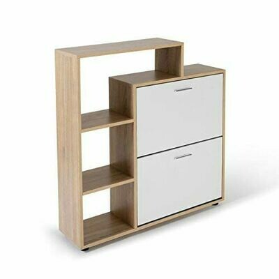 Shoe Storage with Shelf, Oak & white color
